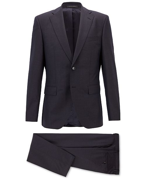 57f3ec94b ... Suit; Hugo Boss BOSS Men's Regular/Classic-Fit Patterned Virgin Wool ...