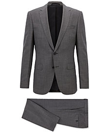 BOSS Men's Slim-Fit Virgin Wool Travel Suit