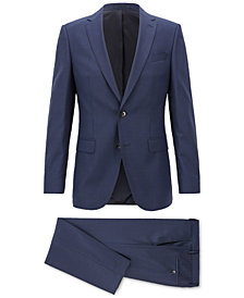 BOSS Men's Slim-Fit Patterned Virgin Wool Suit
