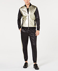 I.N.C. Metallic Sparkle Bomber Jacket & Jogger Pants, Created for Macy's