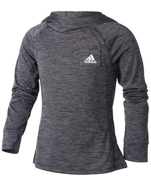9ef82abb9578 adidas Big Girls ClimaLite® Hooded Top - Sweaters - Kids - Macy s