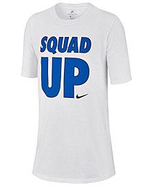 Nike Big Boys Squad-Print Cotton T-Shirt