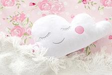Cloudy Pink Throw Pillow