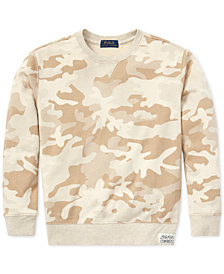 Polo Ralph Lauren Big Boys Camo Twill Terry Sweatshirt