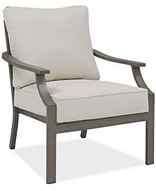 CLOSEOUT! Rialto Outdoor Aluminum Lounge Chair, Created for Macy's