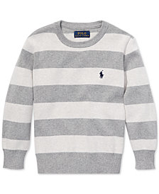 Polo Ralph Lauren Little Boys Striped Cotton Sweater