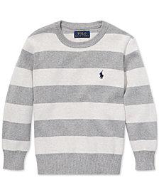 Polo Ralph Lauren Little Boys Striped Cotton Sweater