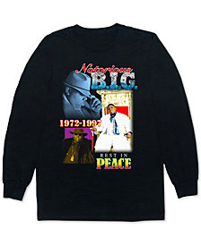 Biggie Collage Men's Long-Sleeve Graphic T-Shirt