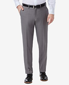 Men's Premium Comfort Slim-Fit Performance Stretch Flat-Front Dress Pants