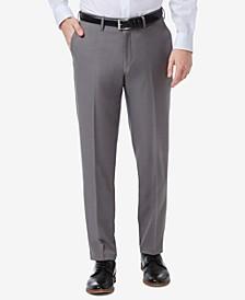 Men's Premium Comfort Slim-Fit Performance Stretch Flat-Front Dress Pants