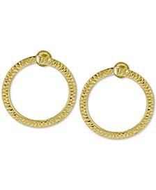Doorknocker Circle Drop Earrings in 14k Gold
