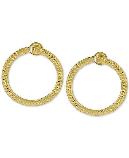 Macy's Doorknocker Circle Drop Earrings in 14k Gold