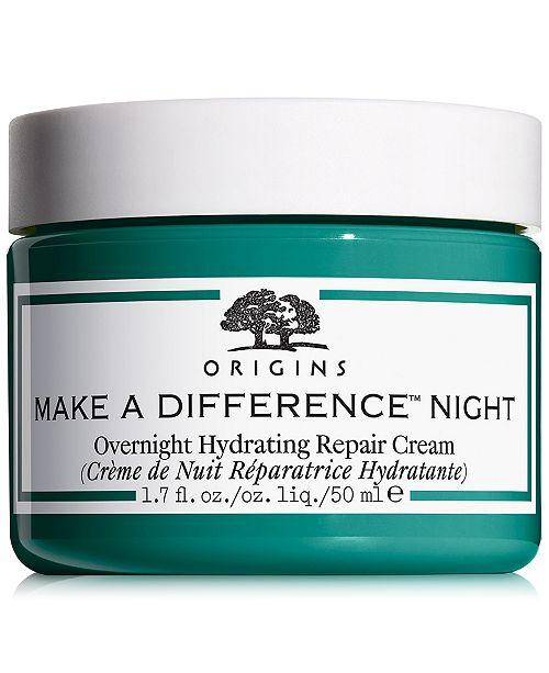 Origins Make A Difference Overnight Hydrating Repair Cream, 1.7 oz