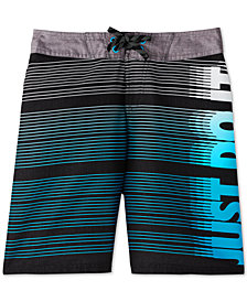 "Nike Big Boys JDI Drift 9"" Striped Swim Trunks"