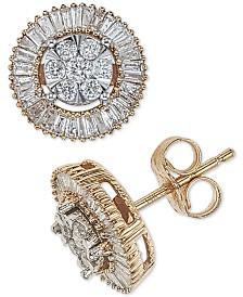 Diamond Round Cluster Halo Stud Earrings (1/2 ct. t.w.)