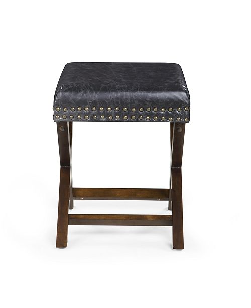 HIVES AND HONEY Dakota Leather Ottoman