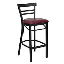 Hercules Series Black LadderRestaurant Barstool