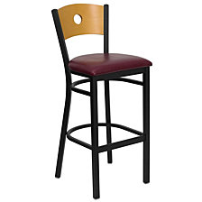 Hercules Series Black Circle Restaurant Barstool