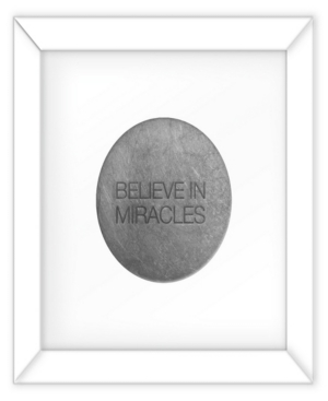 Living 31 Believe in Miracles Silver Decorartive Wall Art