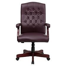 Martha Washington Leather Executive Swivel Chair
