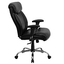 Hercules Series Big & Tall 400 Lb. Rated Black Leather Executive Swivel Chair With Adjustable Arms