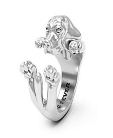 Beagle Hug Ring in Sterling Silver Hug Ring in Sterling Silver