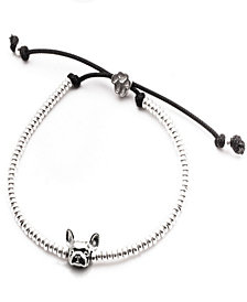 French Bulldog Head Bracelet in Sterling Silver