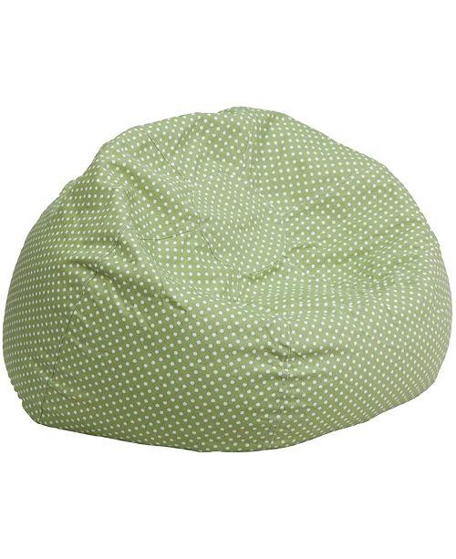 Flash Furniture Oversized Green Dot Bean Bag Chair