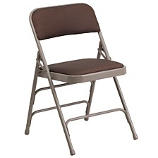 Hercules Series Curved Triple Braced Folding Chair