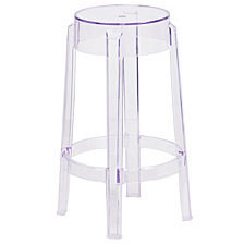 25.75'' High Transparent Counter Height Stool