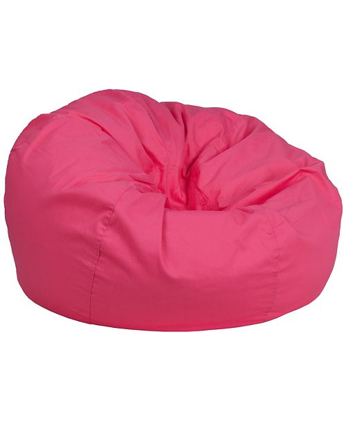 Flash Furniture Oversized Solid Hot Pink Bean Bag Chair