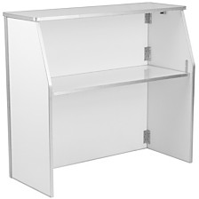 4' White Laminate Foldable Bar