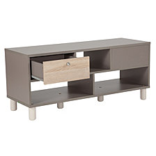 Montclair Collection Coffee Table In Gray Finish With Sonoma Oak Wood Grain Drawers