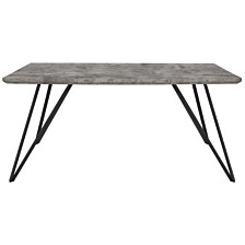 """Corinth 31.5"""" X 63"""" Rectangular Dining Table In Faux Concrete Finish"""