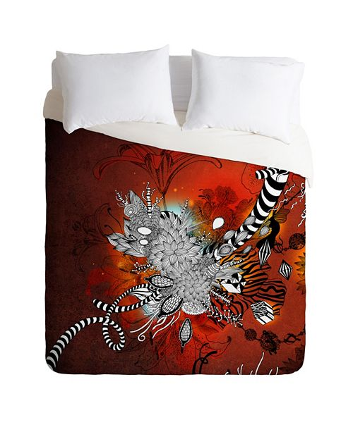 Deny Designs Iveta Abolina Wild Lilly Queen Duvet Set