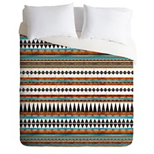 Deny Designs Iveta Abolina Brown Teal Duvet Set, Queen