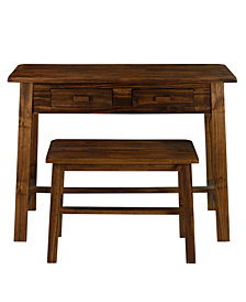 Nostalgia Rustic Desk with Bench