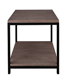 Studio End Table with Solid Red Oak Top and Shelf