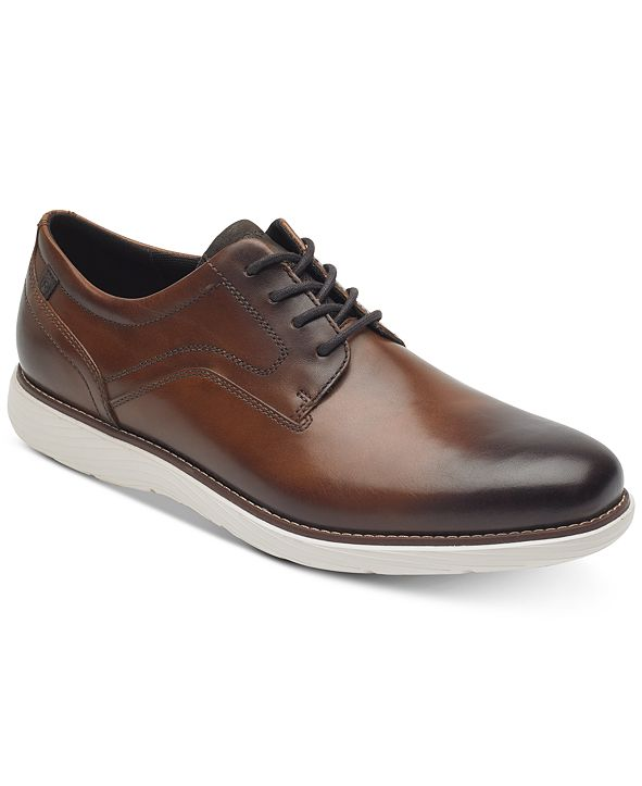 Rockport Men's Garett Leather Plain-Toe Oxfords