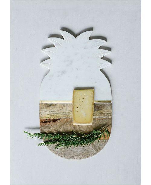 3R Studio Marble and Wood Pineapple Board