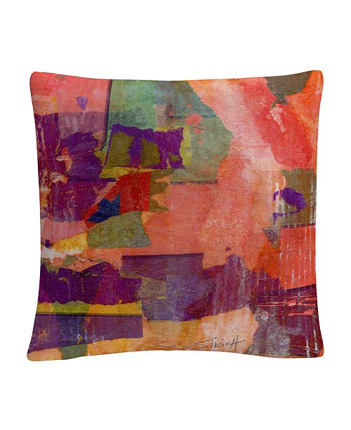 """Baldwin Wanderings Colorful Shapes Composition 16x16"""" Decorative Throw Pillow by Anthony Sikich"""