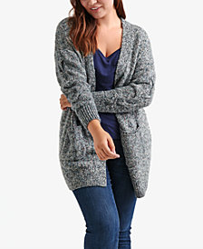 Lucky Brand Trendy Plus Size Marled Cardigan