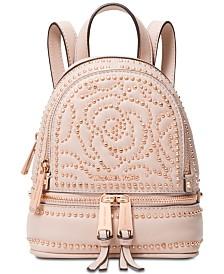 08b950f715 MICHAEL Michael Kors Rhea Mini Zip Studded Convertible Backpack