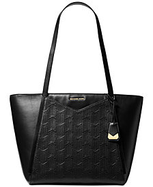 MICHAEL Michael Kors Whitney Quilted Detail Top Zip Tote