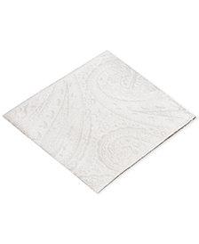 Ryan Seacrest Distinction™ Men's Solid Paisley Silk Pocket Square, Created for Macy's