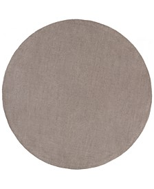 Mystique M-266 Medium Gray 8' Round Area Rug