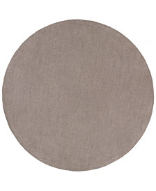 Surya Mystique M-266 Medium Gray 8' Round Area Rug