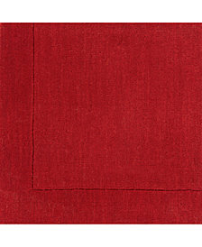 "Surya Mystique M-299 Dark Red 18"" Square Swatch"