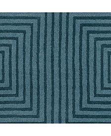"Surya Mystique M-5466 Charcoal 18"" Square Swatch"