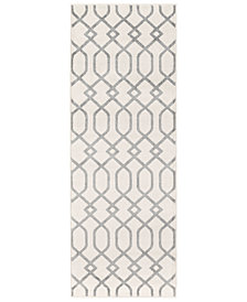"Surya Horizon HRZ-1048 Medium Gray 2'7"" x 7'3"" Area Rug"